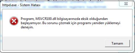 msvcr_hata